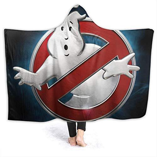 Zeichentrickfilm Ghostbusters Flanell-Kapuzendecke für Kinder / Erwachsene Anti-Pilling-Soft-Fuzzy-Luxus-Überwurf mit Kapuze für das Schlafsofa Travel Four Seasons Blankets-60 x 50