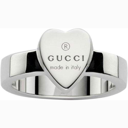 Gucci–Anillo de Mujer con Grabado Corazón Plata de Ley Talla 53ybc22386700153