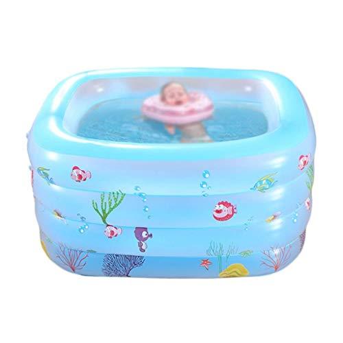 Piscina Azul Rosa piscina inflable, piscina plegable portátil engrosamiento Bañera for bebés verano de la playa Piscina Marina Ball Pool familia parque acuático (de color: rosa, tamaño: 140 * 105 * 72