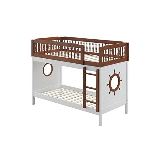 ACME Farah Bunk Bed (Twin/Twin) - - Oak & White