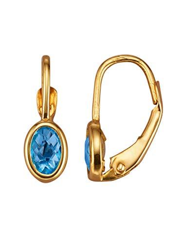 KLiNGEL Ohrringe mit Blautopas Blau