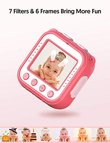 """Victure Kids Camera Waterproof 1080p Full HD Video Camcorders Sports Action Digital Camera with 16GB SD Card for Girls… 8 <p>【8MP Photo & 1080p HD Video & 16GB card】 Victure Kids Camera KC200 features Full HD 1080p@/30fps videos and 8MP bright photos, shooting the most memorable moments of children. Large-capacity storage card is good for children to take a lot of photos and videos. KC200 is the best action camera as a Christmas/ birthday/ holiday gift for children 4-12 years. 【Durable & Waterproof Case】With the professional IP68 level waterproof case, Victure waterproof video kids camera can be used underwater 30m (100ft) to explore adventures, best for beach, diving, swimming, drifting, snorkeling, surfing and more. 【Colorful Filters & Unique Frames】 With built-in 7 colorful video filters and 6 unique designed photo frames, Victure kids camera can fully develop children's creativity. 2"""" LCD color screen presents and view all images directly, making recording a lifestyle. 【Useful Accessories & Multiple combinations】Included Class 10 Micro SD 16GB Card and versatile mounting kits allow the kids sports camera arrive and play, can be attached to skateboards, bike or helmets. Durable neck strap ensure safe using and full-protection. 【Excellent After-Sales Service】Victure Kids Camera supports 30-days money back and 12 months warranty and free customer service for life. A qualified after-sale service team, 7 days/ 24 hours serving for you.</p>"""