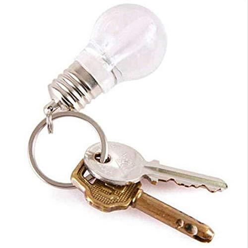 tyrrdtrd Schlüsselbund Licht, Mini Farbwechsel Lampe DIY Kreative Kleine Glühbirne Schlüsselbund Haken Rucksack Schnalle Geschenk Glühen Mehrfarbig