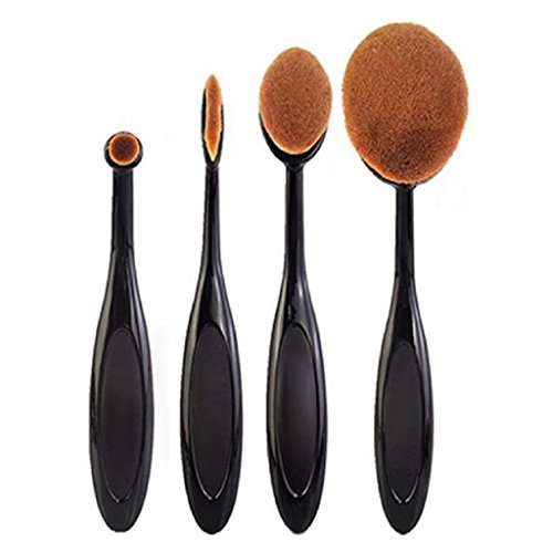Lesley Pierce 4pcs / set Toothbrush Fondation Shape Sourcils Maquillage Kits Pinceau Poudre Pinceau
