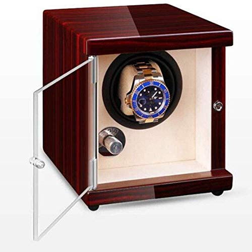 JHSHENGSHI Reloj Shaker, Reloj de Madera Maciza, enrollador de Reloj USB portátil automático para Hombres y Mujeres