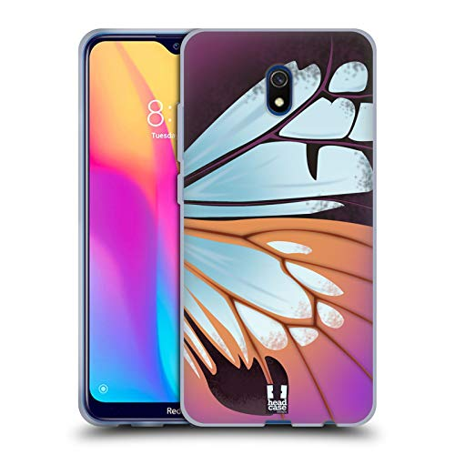 Head Case Designs Parantica Sita Illustrated Butterfly Wing Soft Gel Case Compatible for Xiaomi Redmi 8A