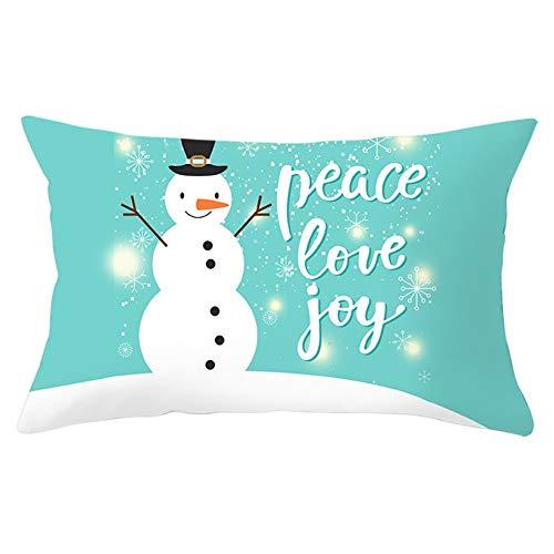 Fundas de Cojines Throw Pillow Case Muñeco de nieve de navidad Cojines Decoracion Terciopelo Suave Fundas de Almohada Rectángulo para Sofá Cama Sillas Coche Decor Hogar Y5653 Pillowcase,50x70cm