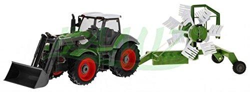 RC Auto kaufen Traktor Bild 2: Traktor mit Anhänger QY8301I im Maßstab 1:28 - Ferngesteuertes Traktor inkl. Fernsteuerung - RC Farm Car - Farm Traktor mit abnehmbarem Anhänger*