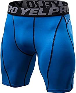LUKEEXIN Men's Compression Shorts Sports Baselayer Cool Dry Tights