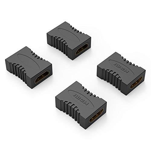 ELUTENG HDMI Koppler 4 Packs 4K@30Hz 3D Buchse auf HDMI Buchse 1.4 HDMI auf HDMI Kupplung Adapter HD 1080P für PC/Laptop/TV Box / PS4 / Blu-Ray DVD Player/HDTV/Monitor/Projector