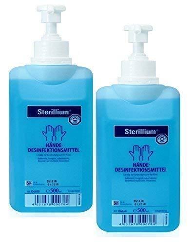 2 x 500ml Flasche Sterillium Hygiene Händedesinfektion Desinfektionsmittel inkl. 2 Stück Medi-Inn Dosierpumpen