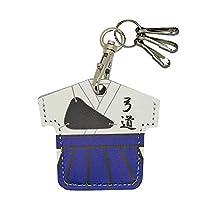 ユニフォーム型 コインケース コイン型edy 牛革 日本製 3連フック付 キーホルダー ランドセル にも付けられる 500円硬貨 シールキー アクセサリー 弓道