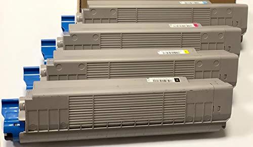 Tóner OKI 44643004 para C801 C801n C821 n C 801 821 - Kit de 4 colores - Duración 7300 páginas - Remanufacturado - Fabricado en Italia