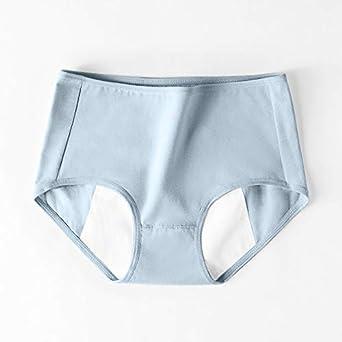 Comode e traspiranti,7-15 giorni arrivare 2021 Il nuovo 4PCS Mutandine mestruali da donna Senza cuciture Tinta unita Slip di taglia media Intimo a vita media Mutandine mestruali Intimo mestruale
