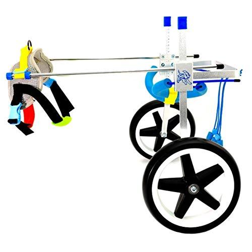 Silla de Ruedas para Perros Pet Wheelchair Perro silla de ruedas, veterinario autorizado for la mayoría de los perros 1,5 a 50 Kg, silla de ruedas for las piernas hacia atrás - for el perro de animal