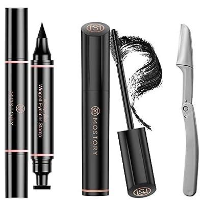 Amazoncom  Mascara Black Eyeliner Stamp Eyebrow Razor