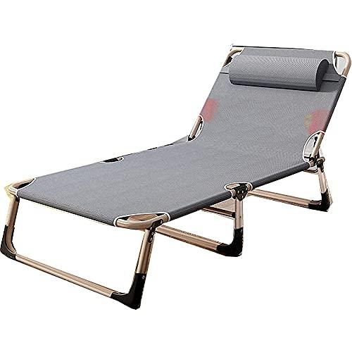 Sillas de jardín, cama plegable individual, reclinable para el hogar, silla plegable para adultos o oficina, cama de camping portátil, 1 WHY666