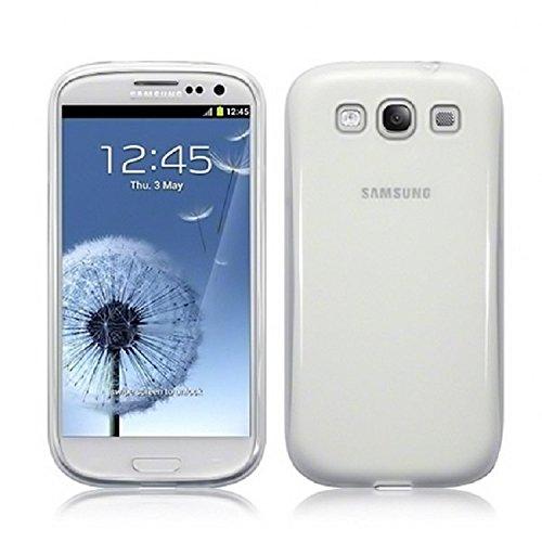 REY Funda Carcasa Gel Transparente para Samsung Galaxy S3 Ultra Fina 0,33mm, TPU de Alta Resistencia y Flexibilidad