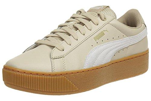 PUMA Damen Vikky Platform L Sneaker, Beige (Safari-White), 42.5 EU