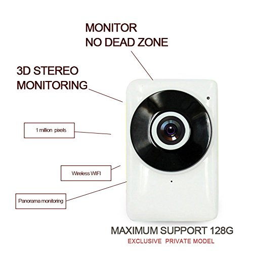 HDI-EC1-G6 Outdoor IP Camera Wifi Support 128GB TF (Micro SD)Card Home Outdoor WiFi Security Camera (Bulit In Microphone/Speaker), Dome WiFi Security Camera