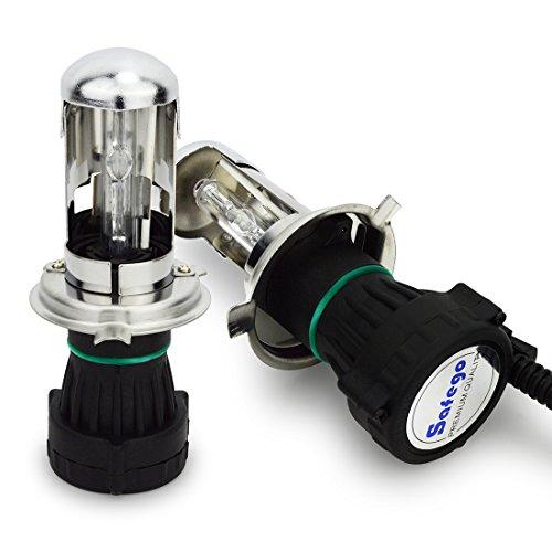 Safego 35W H4 H/L HID Bi Xénon Ampoules Phares H4-3 High Low Lampe à Décharge Phare Ampoule de Rechange 6000K Blanc Pour Voiture CA 12V