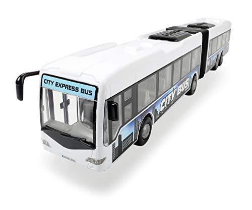 Dickie 203748001312 Toys City Express Bus, Gelenkbus, Spielzeugbus, Spielzeugauto, Türen zum Öffnen, 46 cm, weiß