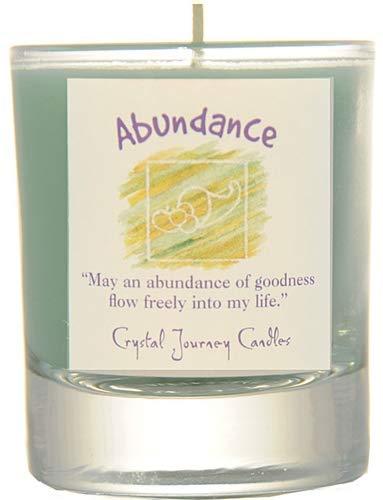Crystal Journey Herbal Magic Glass Filled Votive Soy Candle - Abundance