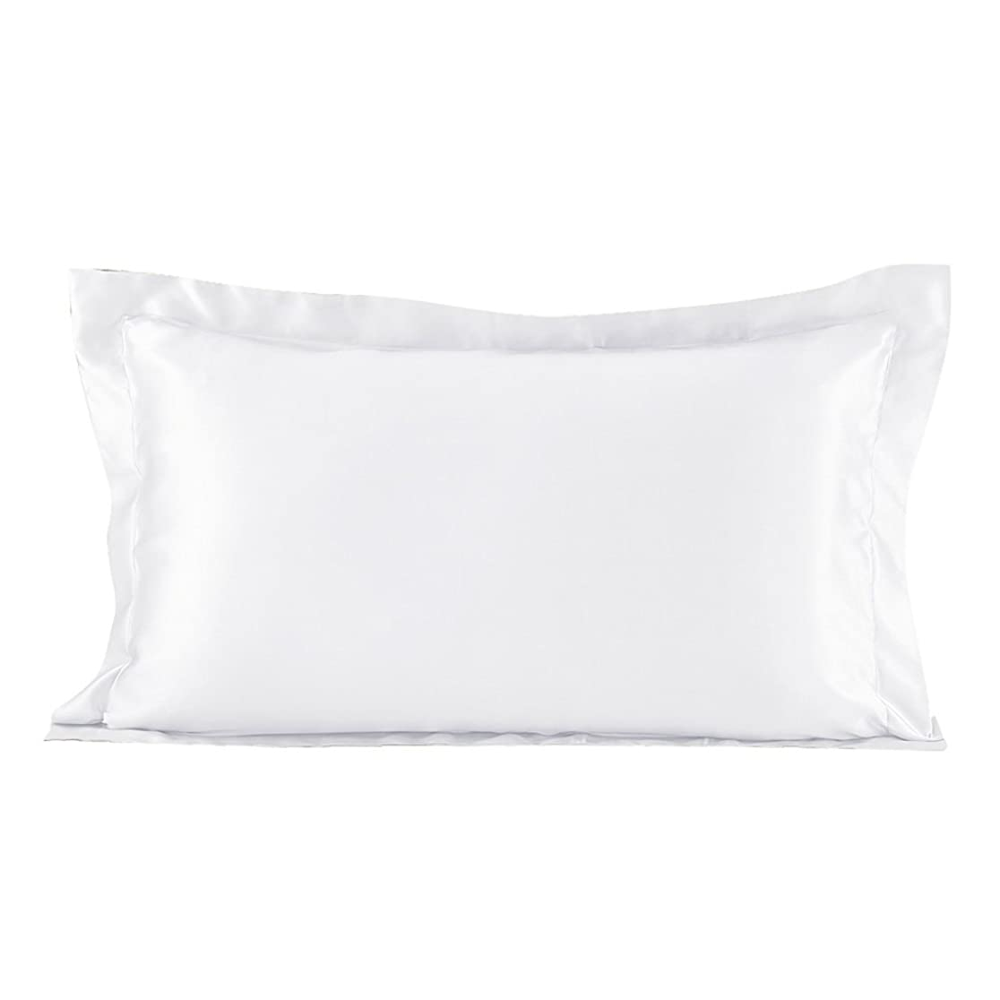 去る正確に思い出すLilySilk(リリーシルク)シルク枕カバー ピローケース/50x70+5cm/ホワイト/1枚/22匁/額縁付き/封筒式