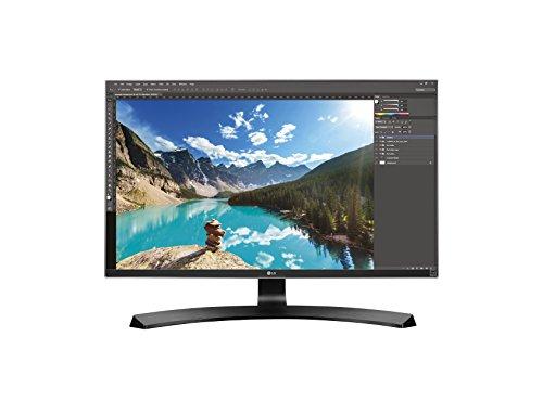 LG 27UD68P-B 68,58 cm (27 Zoll) Computer-Monitor (HDMI, HDCP, DisplayPort, 5ms Reaktionszeit, HD 4k, Pivot Funktion und Neigefuß) schwarz