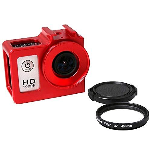 Funda protectora de la cámara deportiva de Boyuhii Caso SG169 aleación de aluminio universal de protección con filtro UV 40.5mm y protector de lente for SJCAM SJ4000 y SJ4000 y SJ4000 Wifi + Wifi y SJ