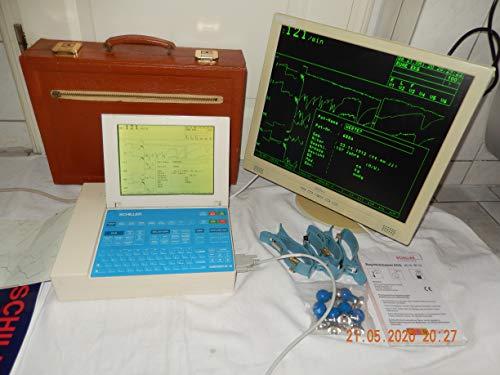 SCHILLER AT-10 EKG Gerät 12 Kanal mit LCD Display, Software für Ergometerie, Interpretationen, Monitor Belinea, 10 Ader Patientenkbel im Lederkoffer, geprüft