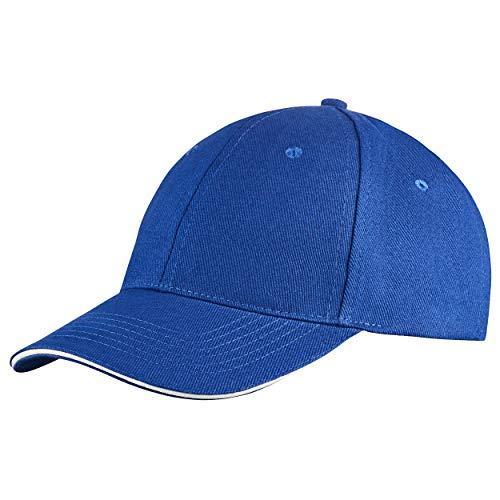Style Klassische Baseball Cap für Damen und Herren aus reiner Baumwolle, verstellbar, Basecap Kappe Mütze Hut (Blau)