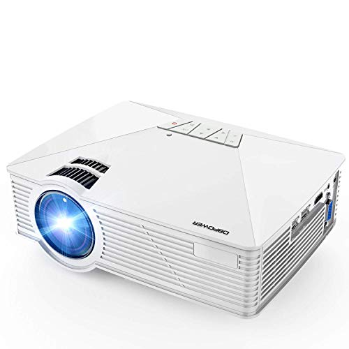 Min Home Projector 3000 Lux with 25000 Hours Lamp Life, 1-35 LED Portable Projector Support 1080P, Mini Projector Compatible with TV Stick, PS4
