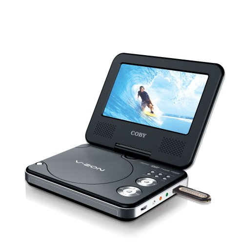 Affordable Coby TF-DVD7377 7-Inch DivX Compatible Portable DVD Player