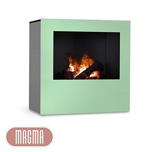 Magma infraroodhaard (groen/grijs), verwarmbare elektrische kachel met Optimyst vlamsimulatie