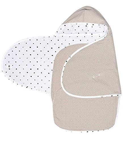 Baby Sommer Einschlagdecke für Babyschale, Autositz, Maxi-Cosi, Römer und andere Marken, ideal für Kinderwagen, Fahrradanhänger, Buggy - Quadrate apricot