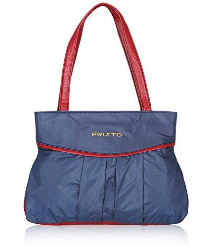Fristo Women's Handbag (Blue and Maroon)