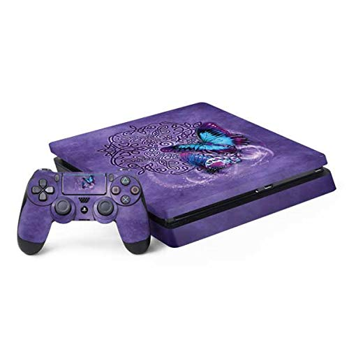 Skinit Decal Gaming Skin Compatible with PS4 Slim Bundle - Officially Licensed Tate and Co. Butterfly Celtic Knot Design