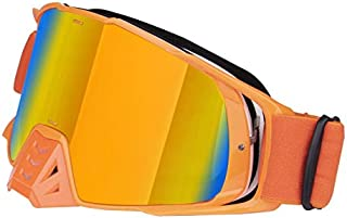 Sunglasses Fashion Accessories Dust and Sand Off-Road Motorcycle Goggles Glasses UV (Color : Orange)