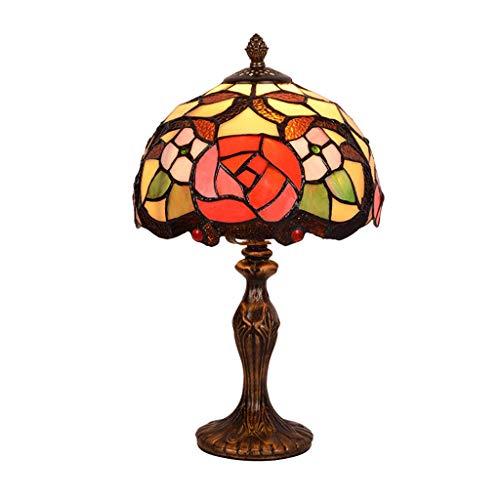 Tiffany-Stil Tischlampe, Bedside Restaurant Schreibtischlampe 8 Zoll Lampenschirm dekorative Beleuchtung LED kleine Tischlampe