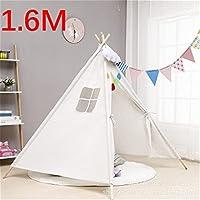 LWCHJ 子供のための1.6mの家テントの携帯用子供たちテントカバナチピ乳白の赤ちゃんティーピーテント城カーペット/導いたライト/デコレーション ( Color : TD1031D-1.6M )