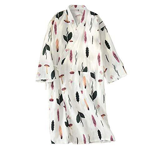 Black Temptation Falda de Kimono Pijama de algodón Albornoz de Las Mujeres Estilo japonés (Delgado), A6