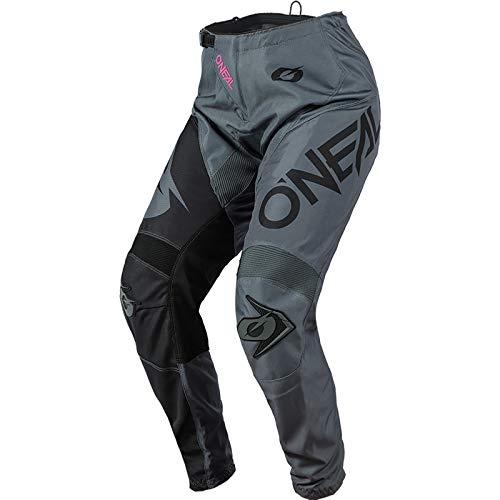 O'NEAL | Frauen Motocross-Hose | Enduro MX | Maximale Bewegungsfreiheit, Leichtes, Atmungsaktives und langlebiges Design, | Women's Pants Element Racewear | Erwachsene | Grau Pink | Größe 26