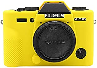 BAOBAO Soft Silicone Protective Case for FUJIFILM XT10 Camouflage   Color Yellow