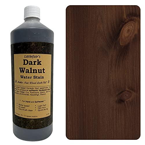 Littlefairs umweltfreundlicher Holzlasur und Farbstoff auf Wasserbasis (250 ml, dunkle Walnuss)
