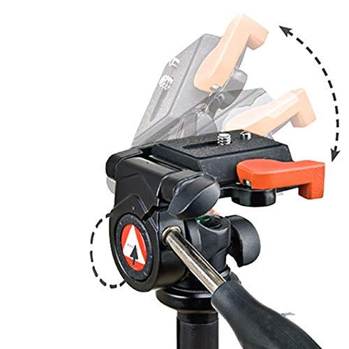 Kingjoy NEU KH6710 3-Wege Fluid Video Neiger Videokopf Stativkopf - Tragkraft: 3kg, Pan 360° inkl. Schnellwechselplatte, 90° seitlicher Tilt