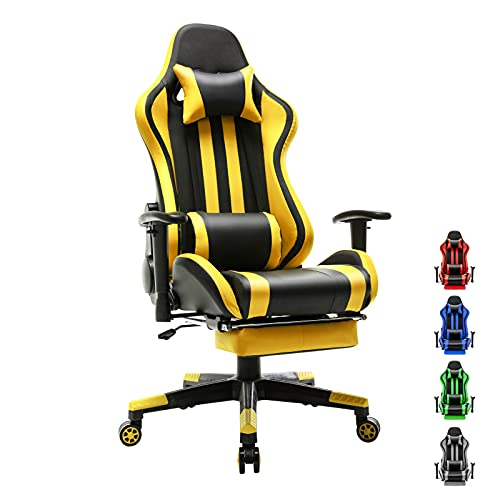 Soontrans Racer Style Computer Chair Reclining Office Chair Gaming Chair Swivel Desk Chair with Backrest and Seat Height Adjustable Swivel...