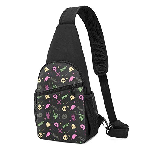 DEKIFNHG Cute Halloween Sling Backpack Hiking Daypack Crossbody Shoulder Bag