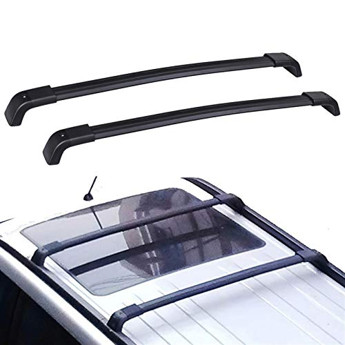 shenme Baca Portaequipajes de Aluminio para Techo,Rack de Techo for Nissan X-Trail 2008 2009 2013 OE Style Aluminio Bolt-on Top Rail Roof Rack Cross Bar Portador de Equipaje