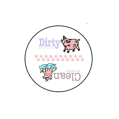 3.5  WaterPROOF  Clean & Dirty  Dishwasher Magnet (30 mil magnet) (Little Piggies)